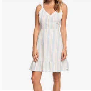 Roxy stripped strappy ruffle sundress dress